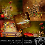 Inspired By Autumn Scene Paper Pack-$3.25 (MagicalReality Designs)