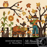 All About Fall Embellishment Pack 1-$2.99 (Designs by Krista)