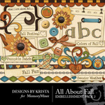All About Fall Embellishment Pack 2-$2.99 (Designs by Krista)