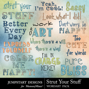Strut your stuff wordart medium
