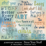 Strut your stuff wordart small