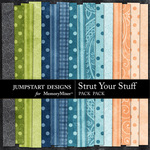 Strut Your Stuff Basic Paper Pack-$3.99 (Jumpstart Designs)