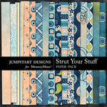 Strut Your Stuff Patterned Paper Pack-$2.99 (Jumpstart Designs)