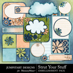 Strut Your Stuff Journal Embellishment Pack-$3.49 (Jumpstart Designs)