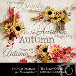 The Beauty of Fall Cluster Pack-$1.99 (Indigo Designs)