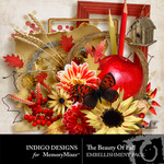 The Beauty of Fall Embellishment Pack-$2.99 (Indigo Designs)
