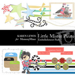 Lil Mister Pirate Embellishment Pack-$3.50 (Karen Lewis)