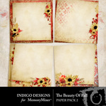The Beauty of Fall Stacked Paper Pack-$3.49 (Indigo Designs)