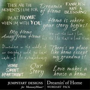 Dreamin of home wordart medium