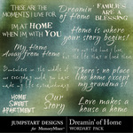 Dreamin of Home WordArt Pack-$2.99 (Jumpstart Designs)