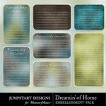 Dreamin of Home Journal Embellishment Pack-$2.99 (Jumpstart Designs)