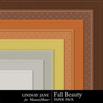 Fall Beauty Embossed Paper Pack-$2.99 (Lindsay Jane)