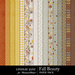 Fall Beauty Paper Pack-$3.99 (Lindsay Jane)