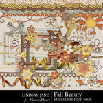 Fall Beauty Embellishment Pack-$3.49 (Lindsay Jane)