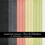Fun and Fabulous Embossed Paper Pack-$3.49 (Jumpstart Designs)