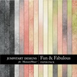 Fun and Fabulous Blends Paper Pack-$3.49 (Jumpstart Designs)