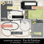 Fun and Fabulous Journal Embellishment Pack-$2.99 (Jumpstart Designs)
