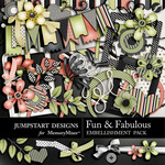 Fun and Fabulous Embellishment Pack-$3.49 (Jumpstart Designs)