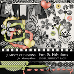 Fun and Fabulous Add On Embellishment Pack-$2.99 (Jumpstart Designs)