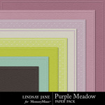 Purple Meadow Embossed Paper Pack-$2.49 (Lindsay Jane)