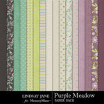 Purple Meadow Paper Pack-$3.99 (Lindsay Jane)