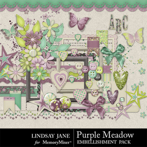 Purple meadow emb medium