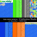 Celebration Sharks Paper Pack-$2.99 (Tara Reed Designs)