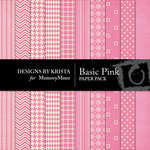 Basic Pink Paper Pack-$3.49 (Designs by Krista)