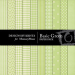 Basic Green Paper Pack-$3.49 (Designs by Krista)
