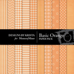 Basic Orange Paper Pack-$3.49 (Designs by Krista)