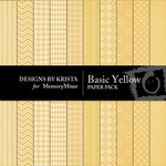 Basic Yellow Paper Pack-$3.49 (Designs by Krista)