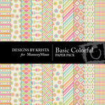 Basic Colorful Paper Pack-$3.49 (Designs by Krista)