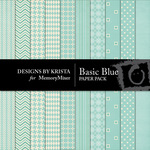 Basic Blue Paper Pack-$3.49 (Designs by Krista)