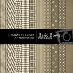 Basic Brown Paper Pack-$3.49 (Designs by Krista)