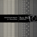 Basic Black Paper Pack-$3.49 (Designs by Krista)