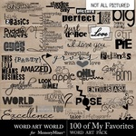100 of my favorites wordart small