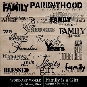 Family is a gift wordart medium