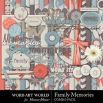 Family Memories Combo Pack-$5.49 (Word Art World)