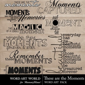 These are the moments wordart medium