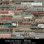 Words WordArt Pack-$3.49 (Word Art World)