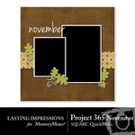 Project 365 November Square QuickMix-$2.99 (Lasting Impressions)