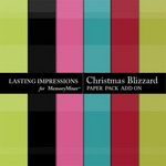 Christmas Blizzard Add On Paper Pack-$1.99 (Lasting Impressions)