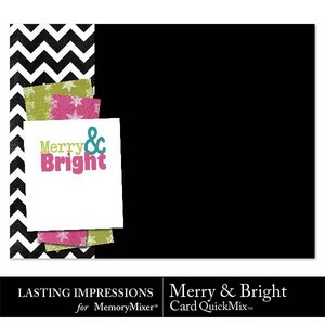 Merry and bright card qm medium