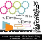 My 10 Favorite Things Embellishment Pack-$1.99 (Lasting Impressions)