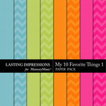 My 10 Favorite Things Paper Pack 1-$1.99 (Lasting Impressions)