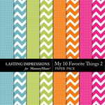 My 10 Favorite Things Paper Pack 2-$1.99 (Lasting Impressions)