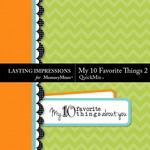 My 10 Favorite Things QuickMix 2-$1.80 (Lasting Impressions)