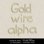 Gold Wire Alphabet Pack-$0.99 (Lindsay Jane)