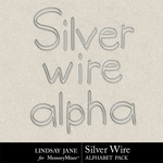 Silver Wire Alphabet Pack-$0.99 (Lindsay Jane)