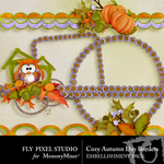 Cozy Autumn Day Border Pack-$1.99 (Fly Pixel Studio)
